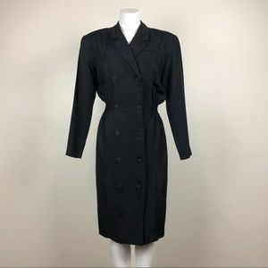 Vintage Double Breasted Button Front Dress